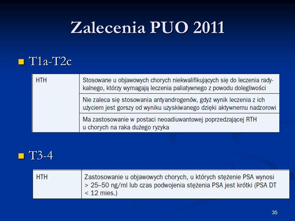 Zalecenia PUO 2011 T1a-T2c T3-4