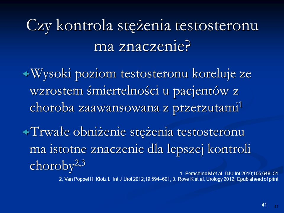 Czy kontrola stężenia testosteronu ma znaczenie