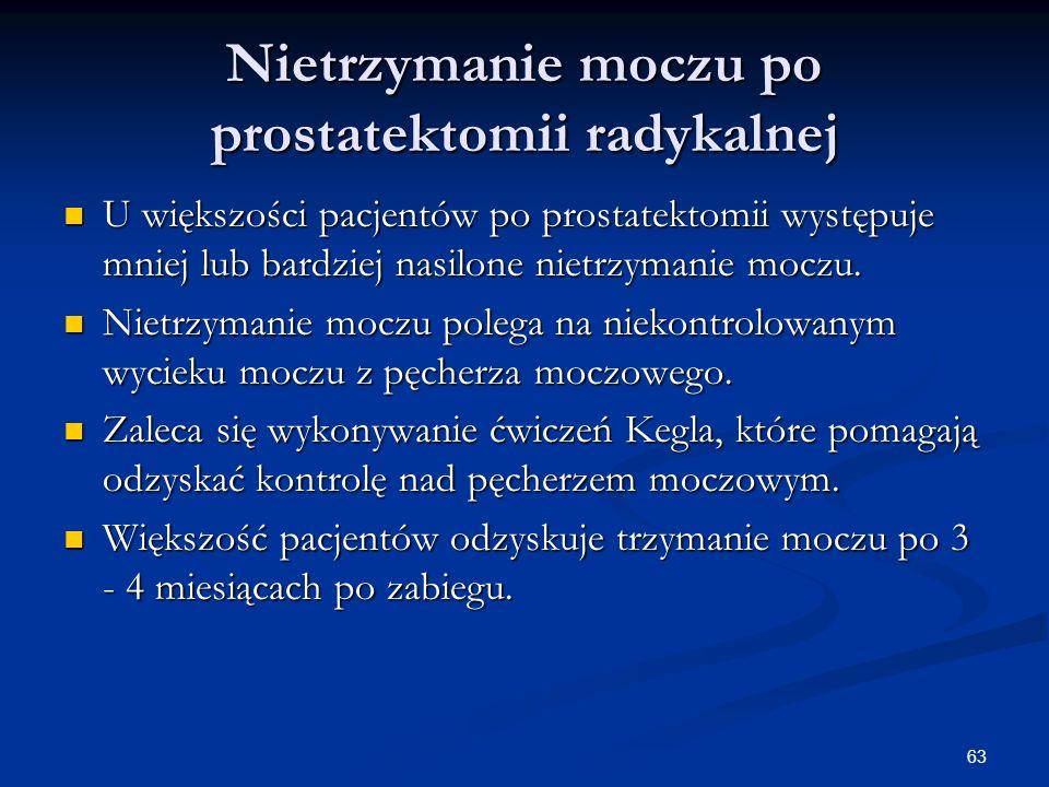 Nietrzymanie moczu po prostatektomii radykalnej