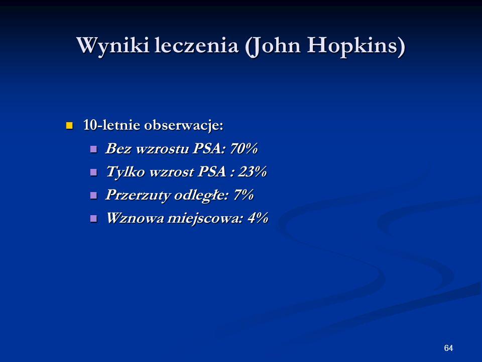 Wyniki leczenia (John Hopkins)