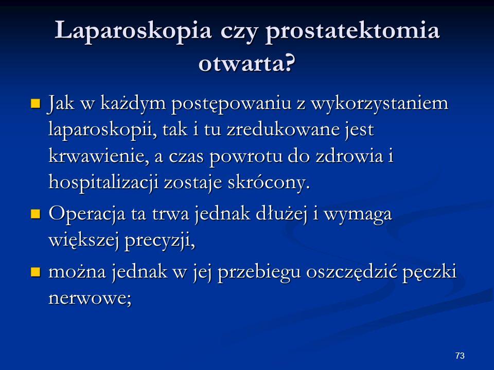 Laparoskopia czy prostatektomia otwarta