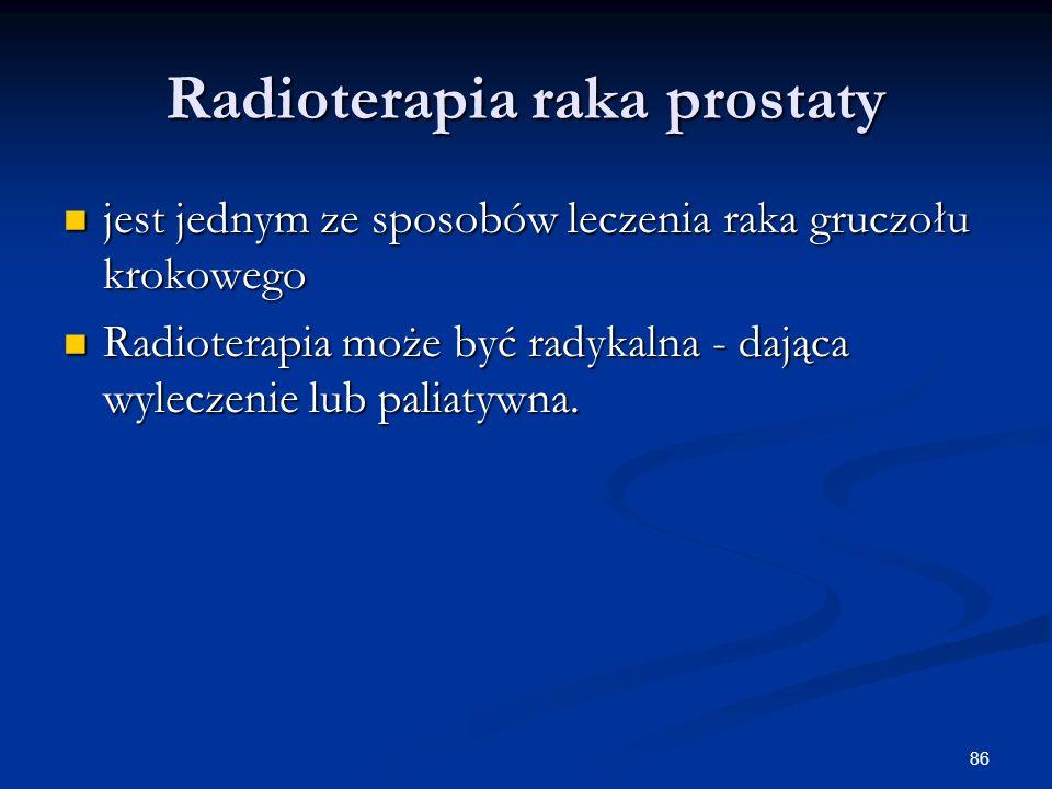 Radioterapia raka prostaty
