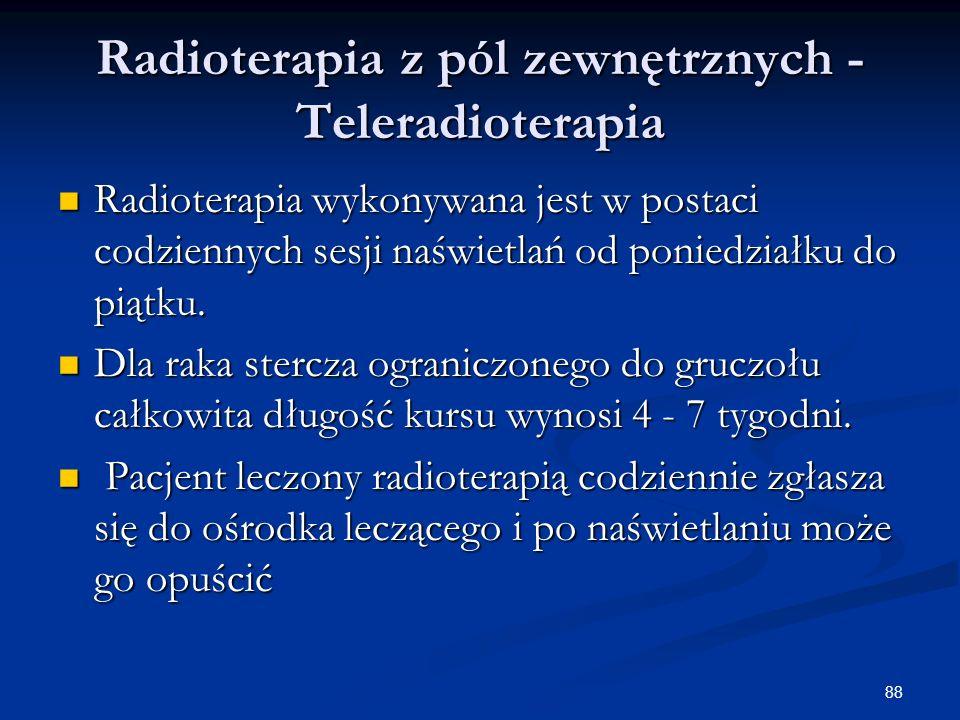 Radioterapia z pól zewnętrznych - Teleradioterapia