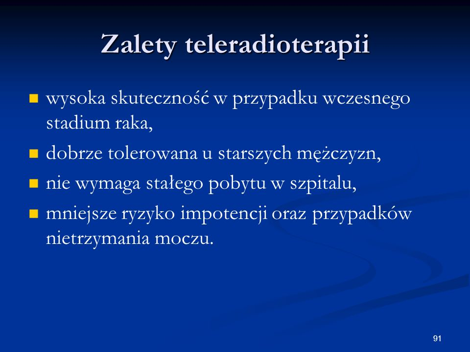 Zalety teleradioterapii