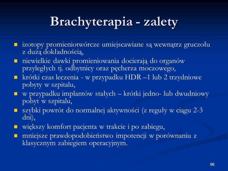 Brachyterapia - zalety