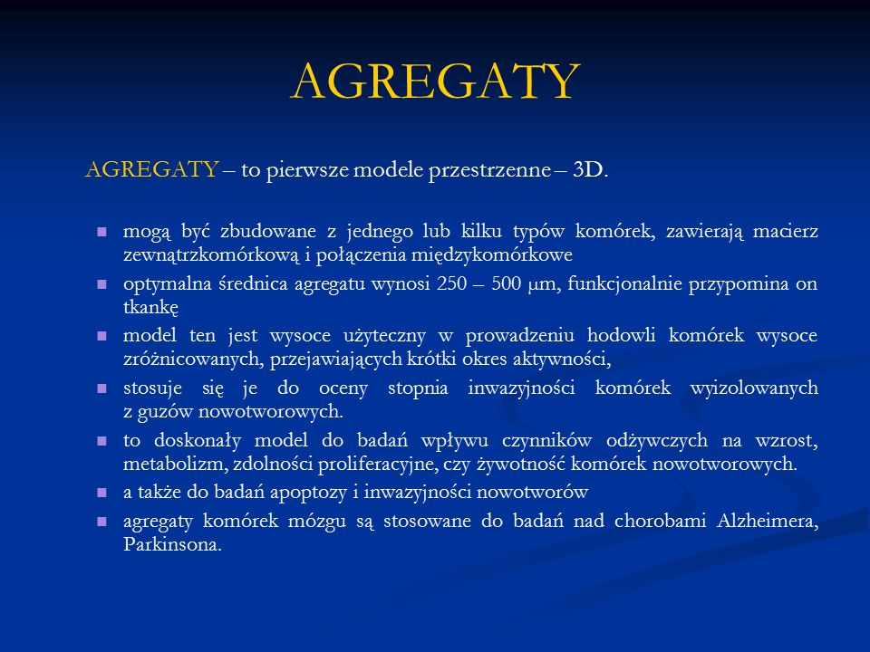 AGREGATY AGREGATY – to pierwsze modele przestrzenne – 3D.