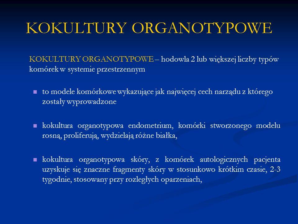 KOKULTURY ORGANOTYPOWE
