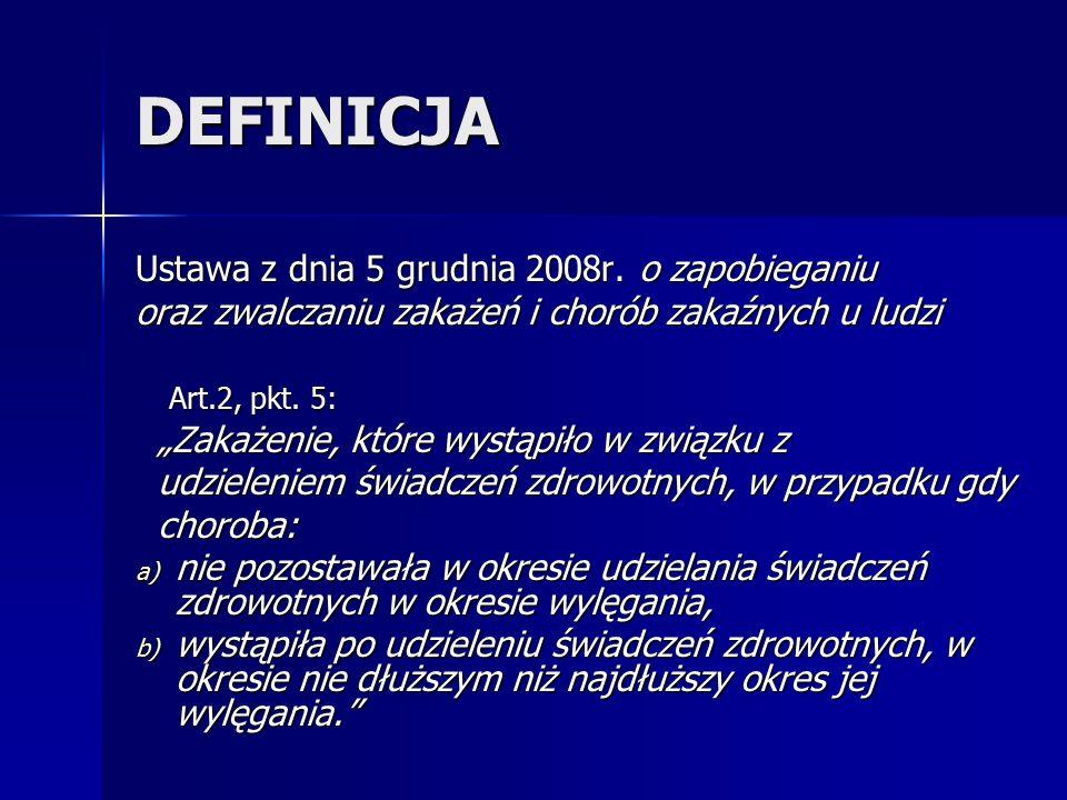 DEFINICJA Ustawa z dnia 5 grudnia 2008r. o zapobieganiu