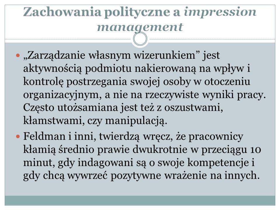Zachowania polityczne a impression management
