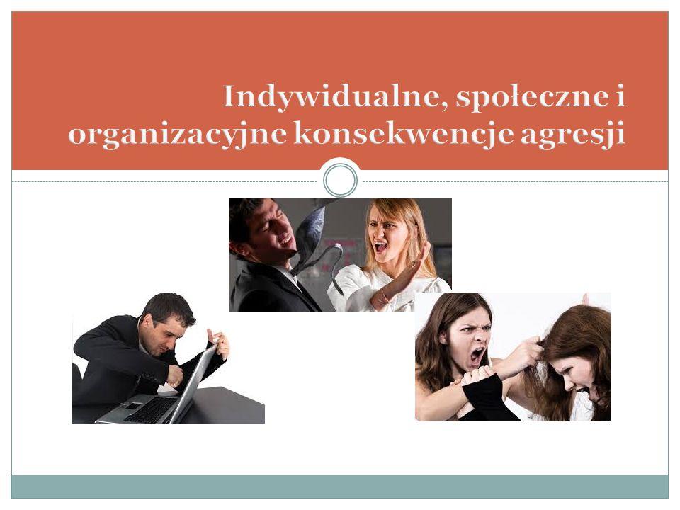 Indywidualne, społeczne i organizacyjne konsekwencje agresji