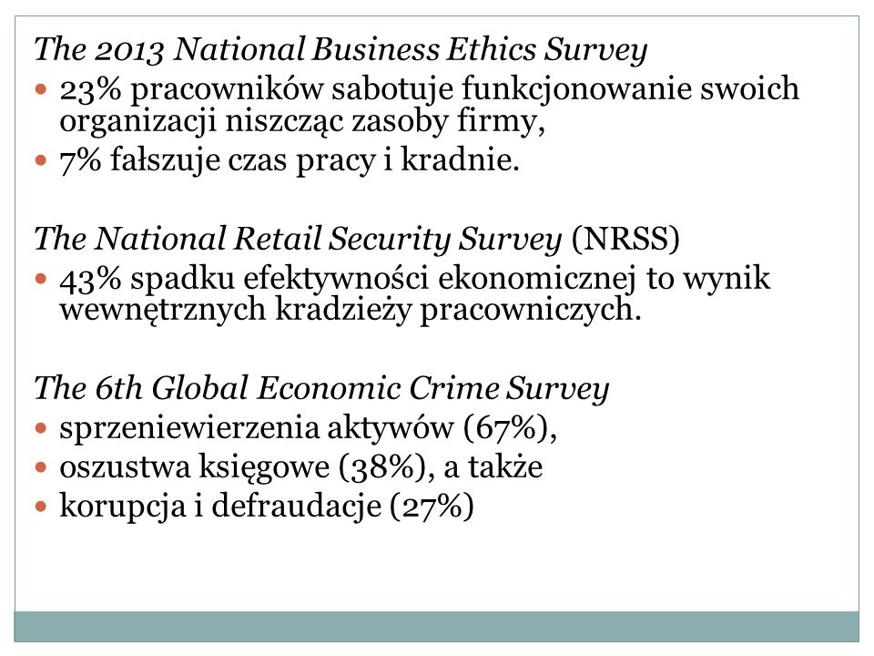 The 2013 National Business Ethics Survey