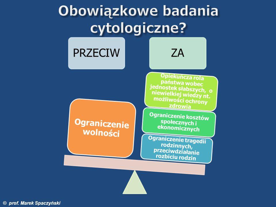 Obowiązkowe badania cytologiczne