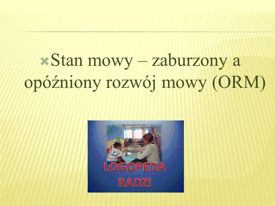 Stan mowy – zaburzony a opóźniony rozwój mowy (ORM)