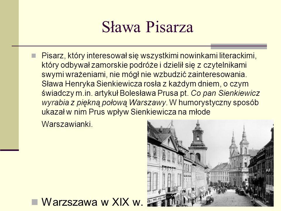 Sława Pisarza Warzszawa w XIX w.