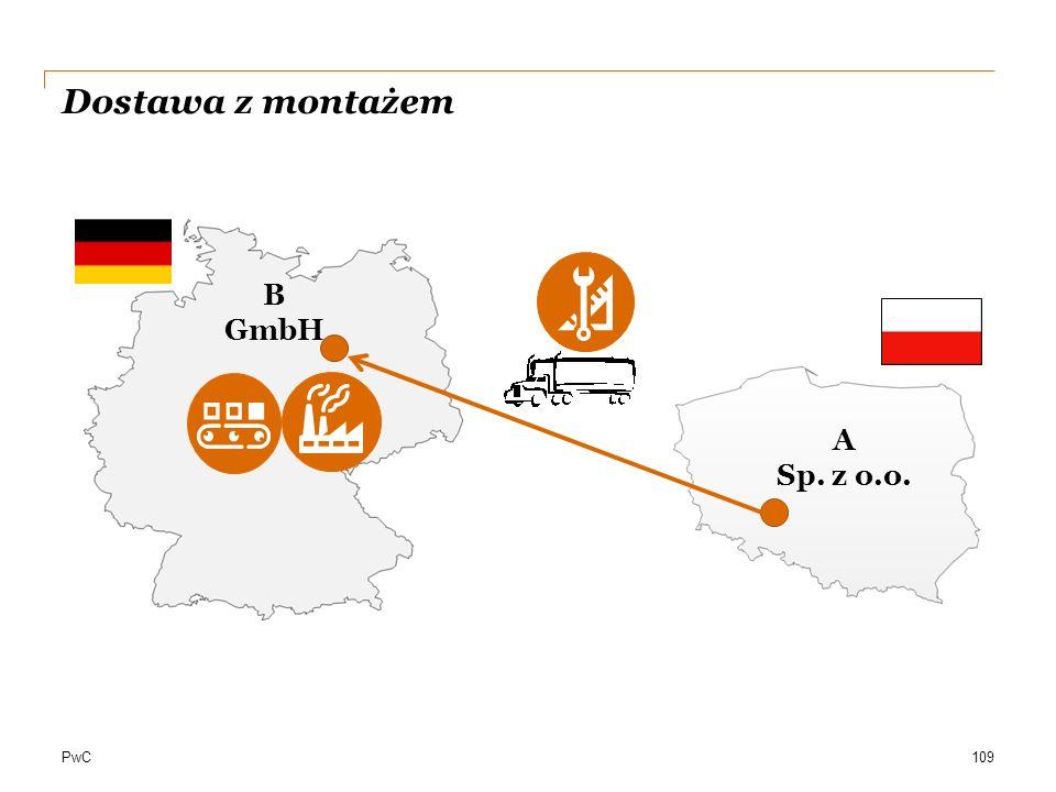 Dostawa z montażem B GmbH A Sp. z o.o.