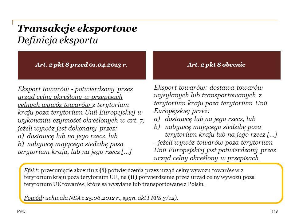 Transakcje eksportowe Definicja eksportu