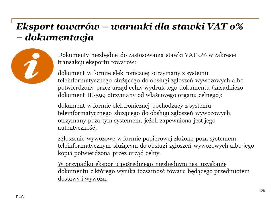 Eksport towarów – warunki dla stawki VAT o% – dokumentacja