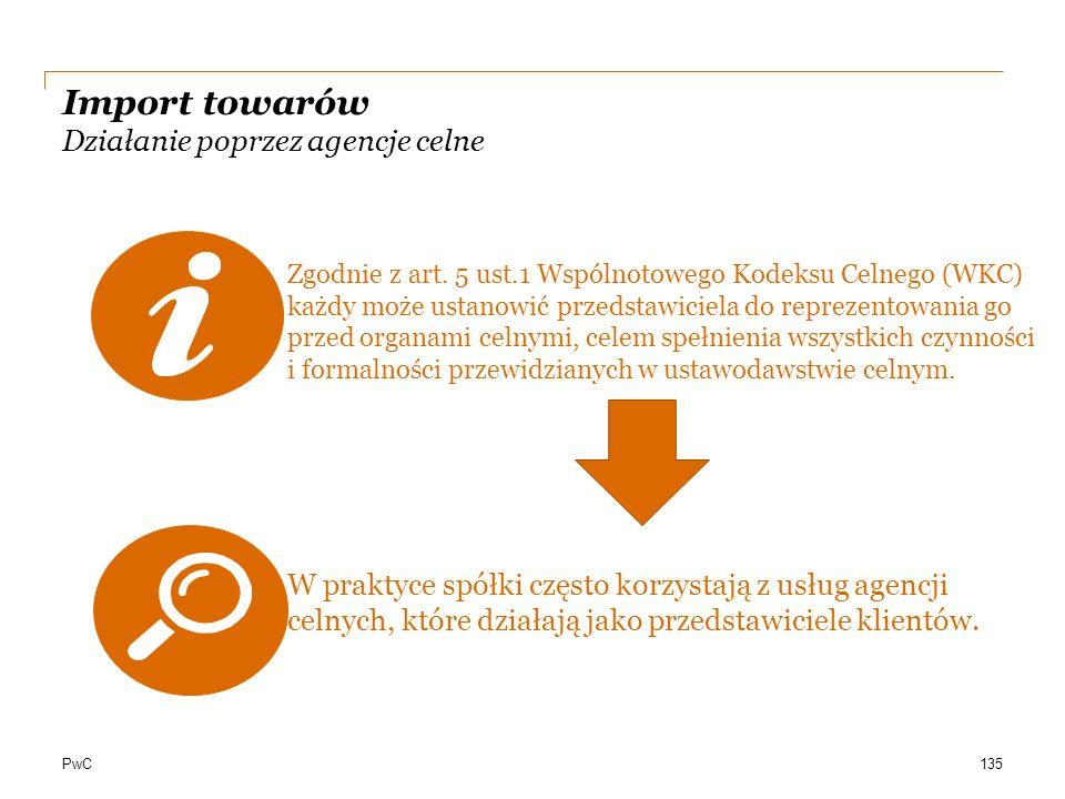 Import towarów Działanie poprzez agencje celne