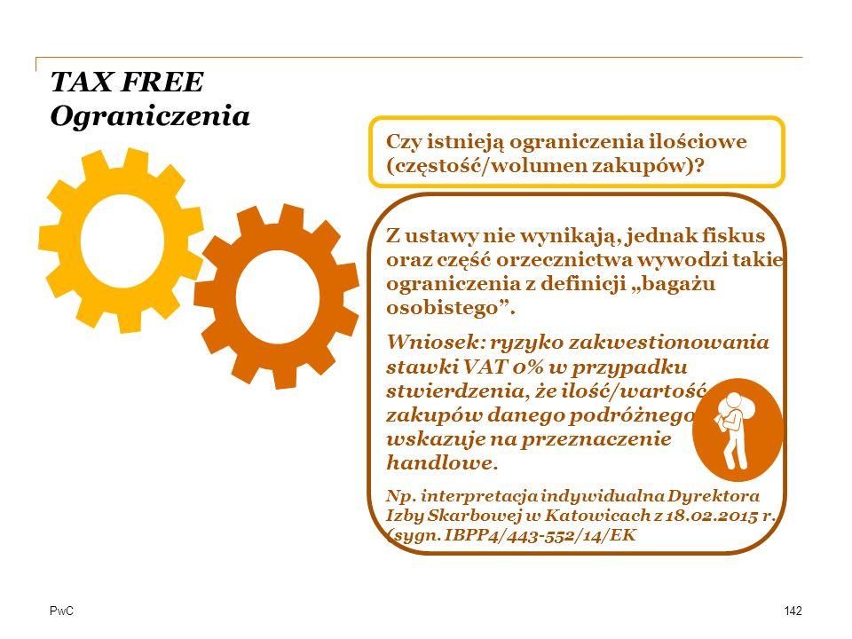 TAX FREE Ograniczenia Czy istnieją ograniczenia ilościowe (częstość/wolumen zakupów)