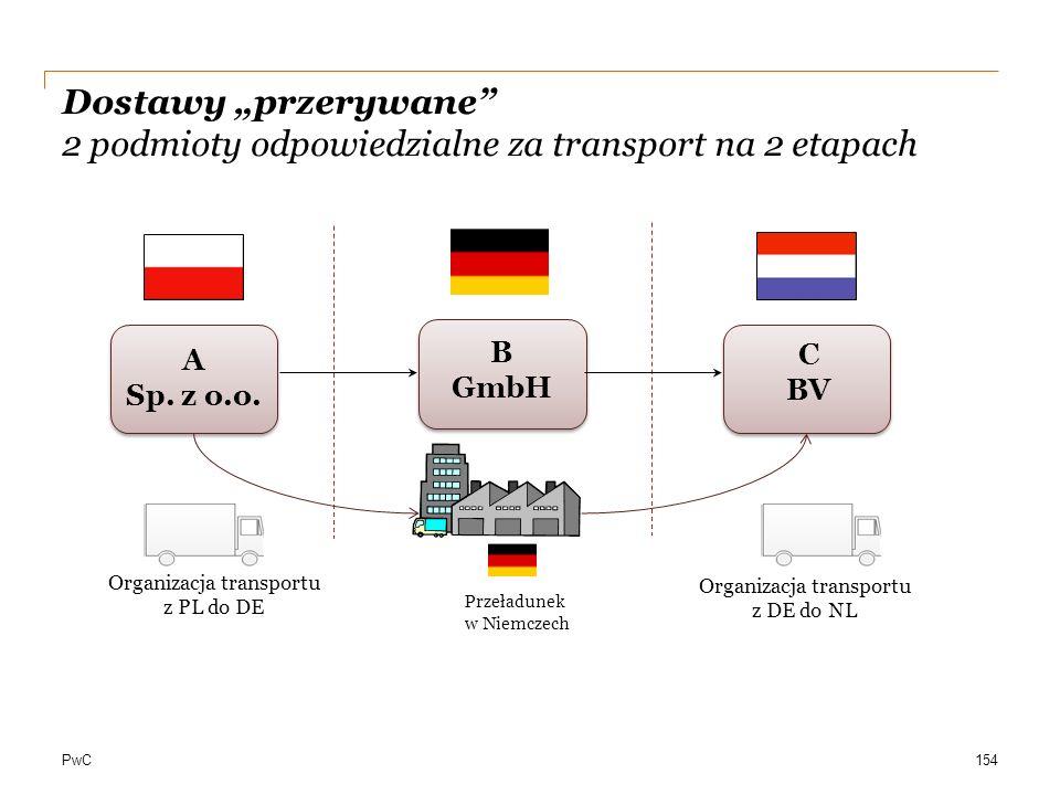 """Dostawy """"przerywane 2 podmioty odpowiedzialne za transport na 2 etapach"""