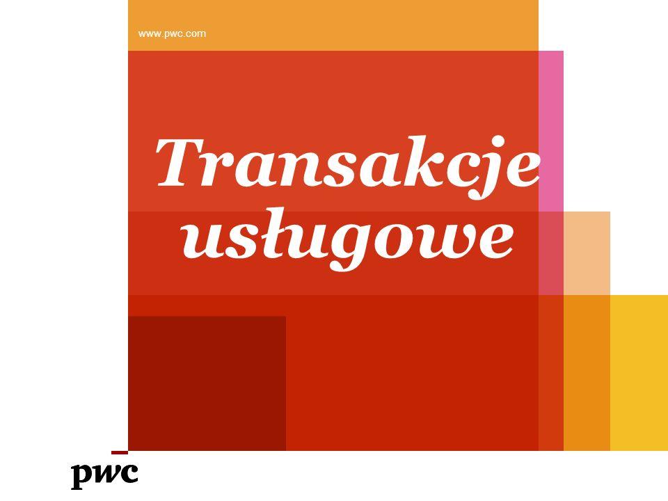 www.pwc.com Transakcje usługowe