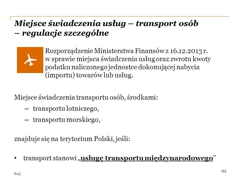 Miejsce świadczenia usług – transport osób – regulacje szczególne