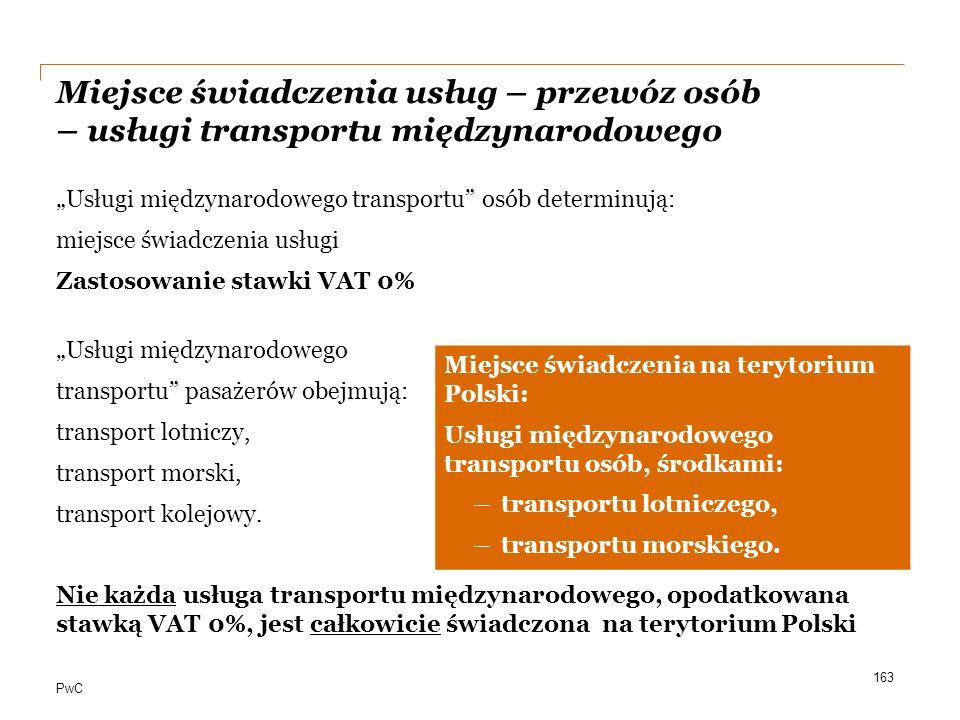 Miejsce świadczenia usług – przewóz osób – usługi transportu międzynarodowego