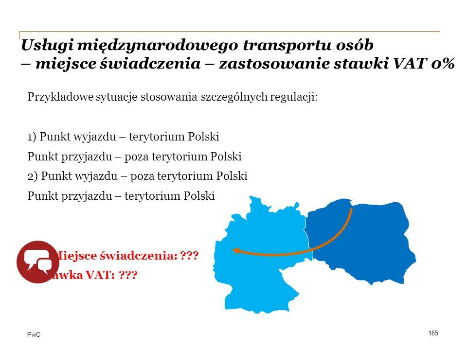 Usługi międzynarodowego transportu osób – miejsce świadczenia – zastosowanie stawki VAT 0%