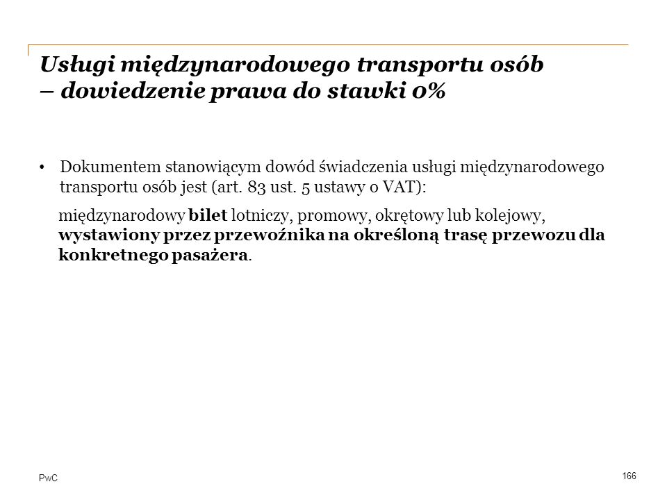 Usługi międzynarodowego transportu osób – dowiedzenie prawa do stawki 0%