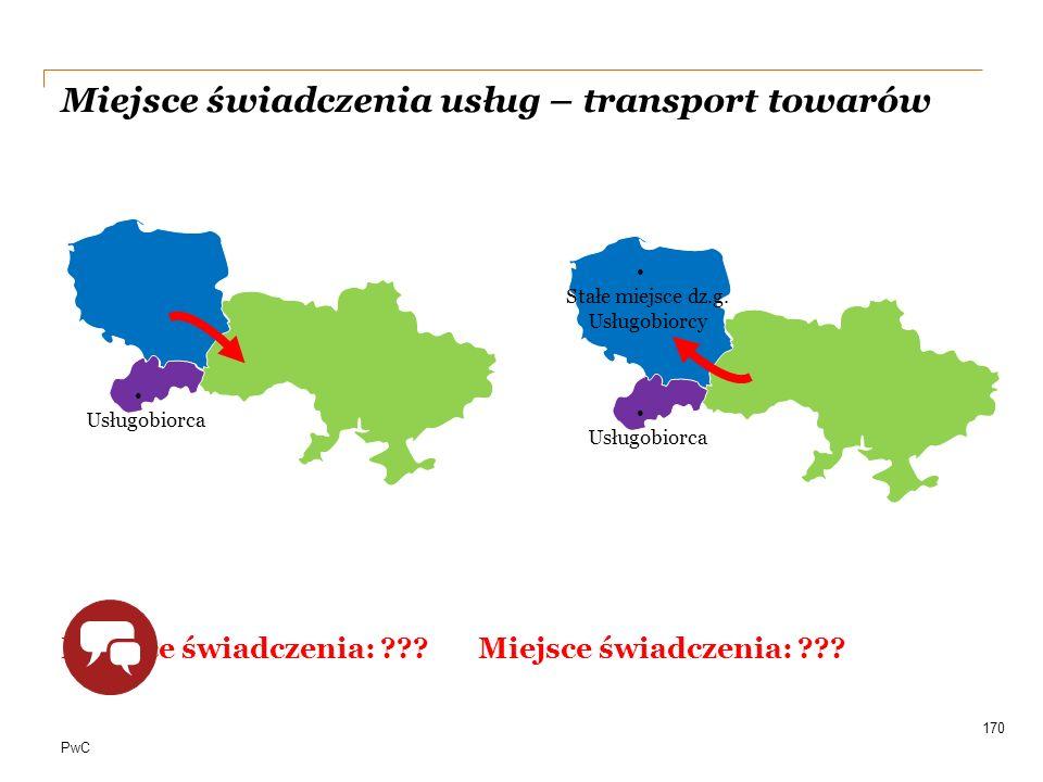 Miejsce świadczenia usług – transport towarów
