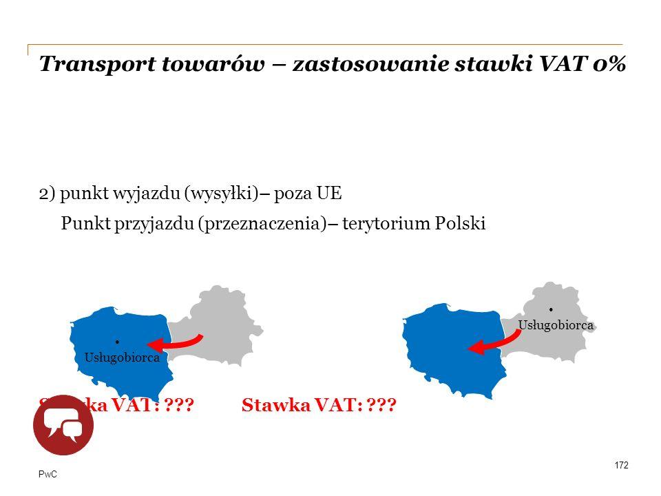 Transport towarów – zastosowanie stawki VAT 0%