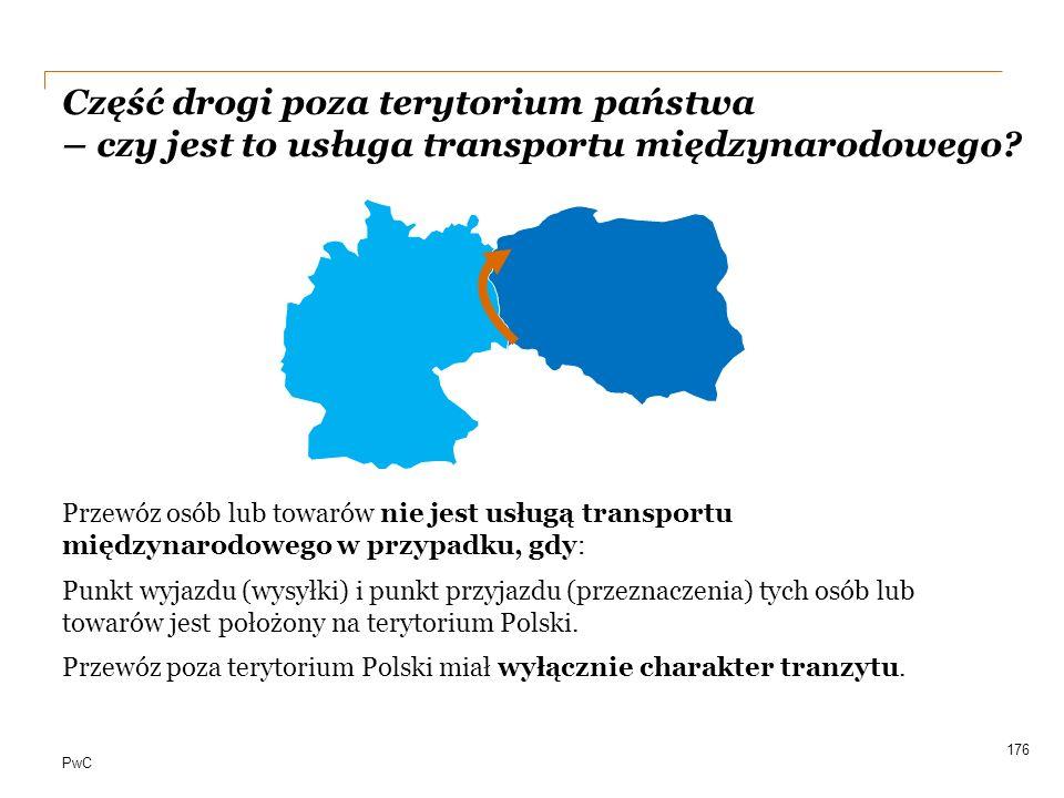 Część drogi poza terytorium państwa – czy jest to usługa transportu międzynarodowego