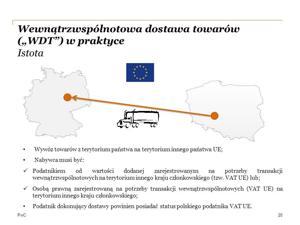 """Wewnątrzwspólnotowa dostawa towarów (""""WDT ) w praktyce Istota"""