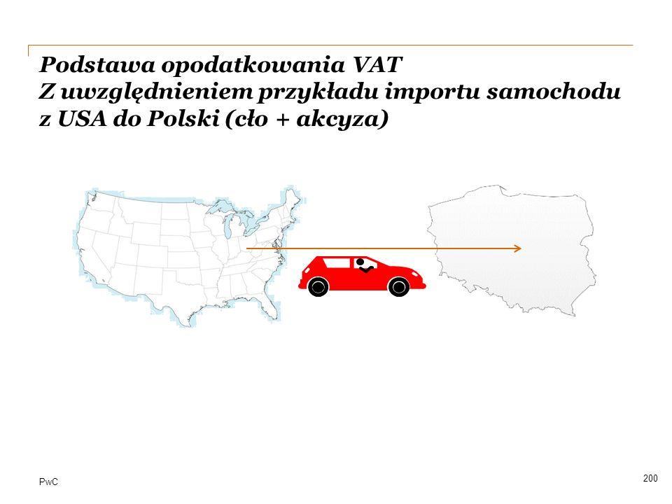 Podstawa opodatkowania VAT Z uwzględnieniem przykładu importu samochodu z USA do Polski (cło + akcyza)