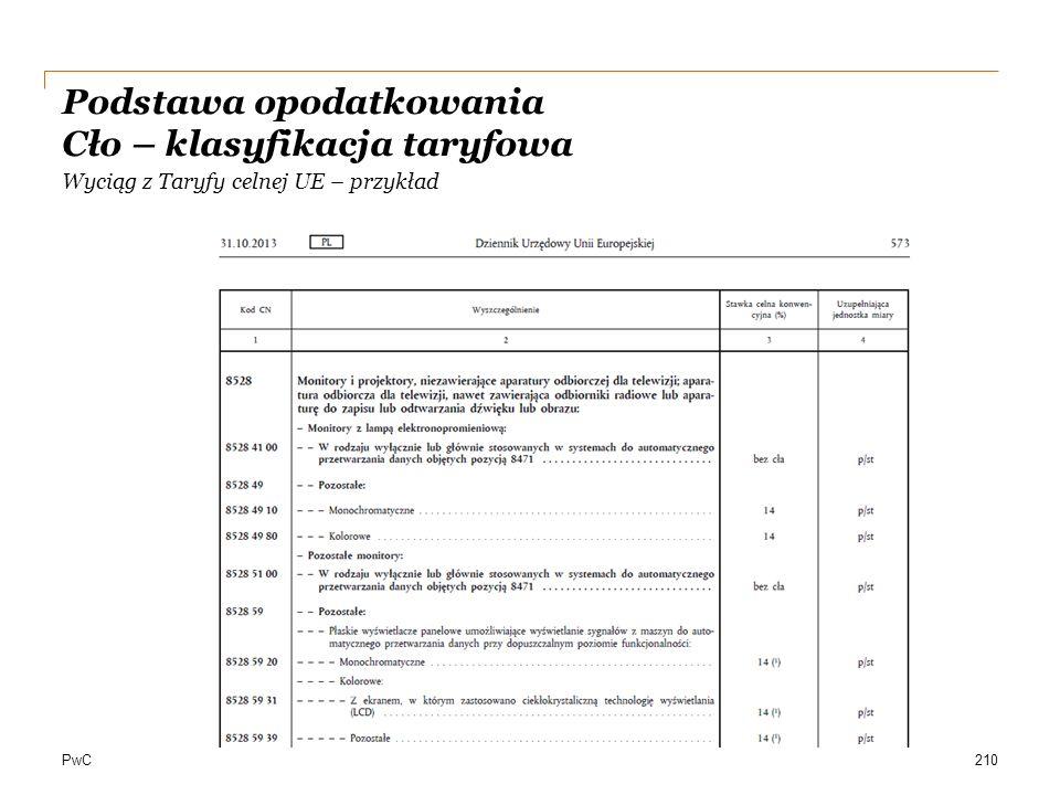 Podstawa opodatkowania Cło – klasyfikacja taryfowa