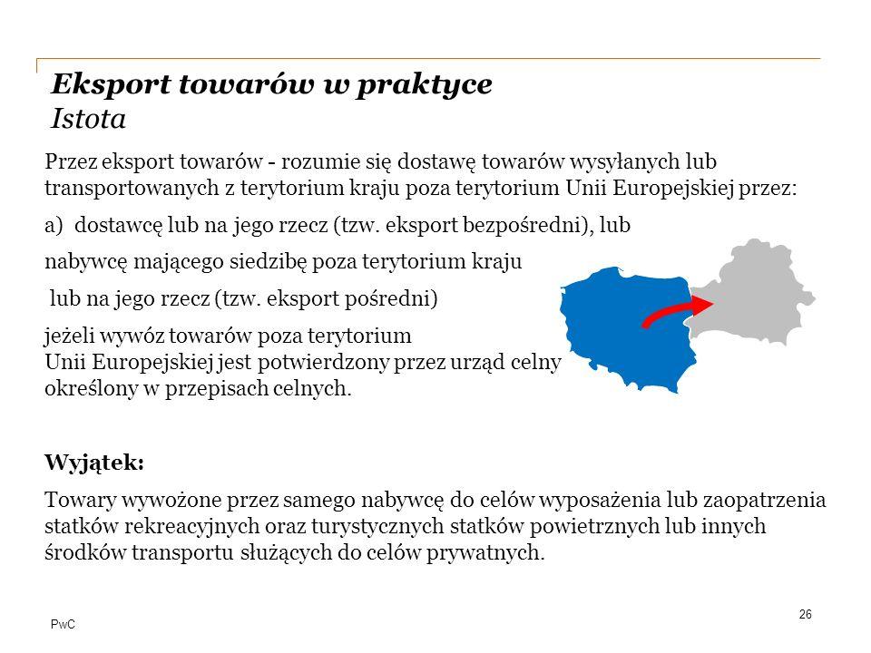 Eksport towarów w praktyce Istota