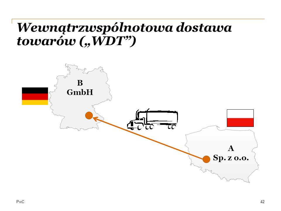 """Wewnątrzwspólnotowa dostawa towarów (""""WDT )"""