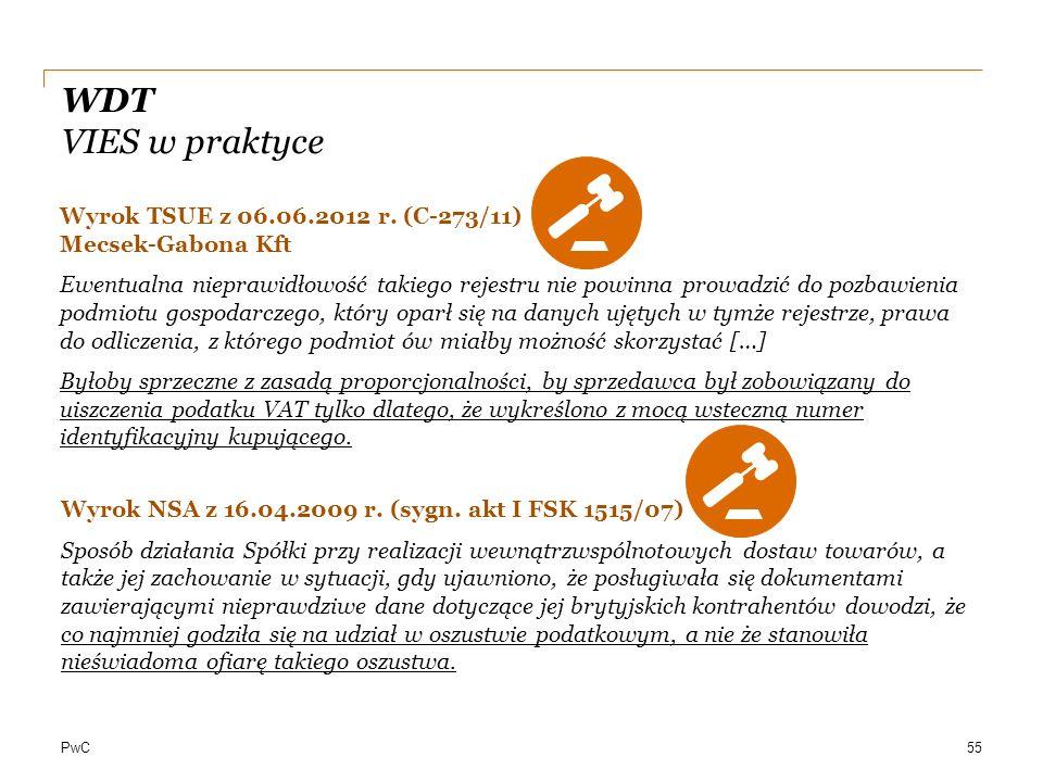 WDT VIES w praktyce Wyrok TSUE z 06.06.2012 r. (C-273/11) Mecsek-Gabona Kft.