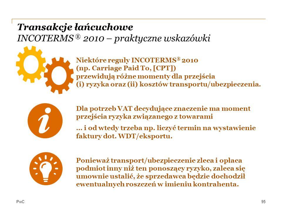 Transakcje łańcuchowe INCOTERMS ® 2010 – praktyczne wskazówki