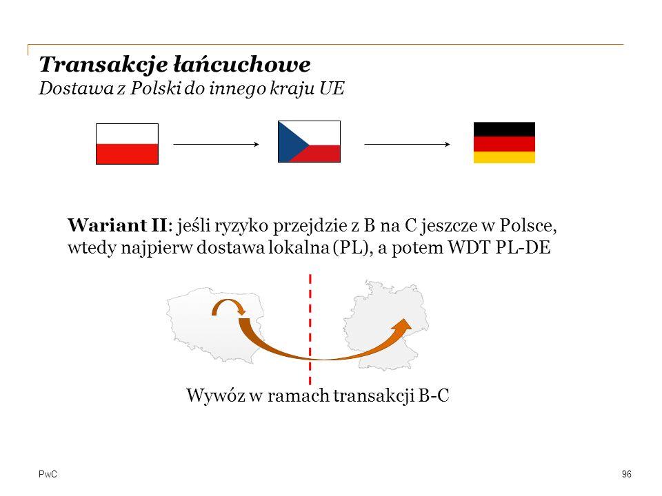 Transakcje łańcuchowe Dostawa z Polski do innego kraju UE