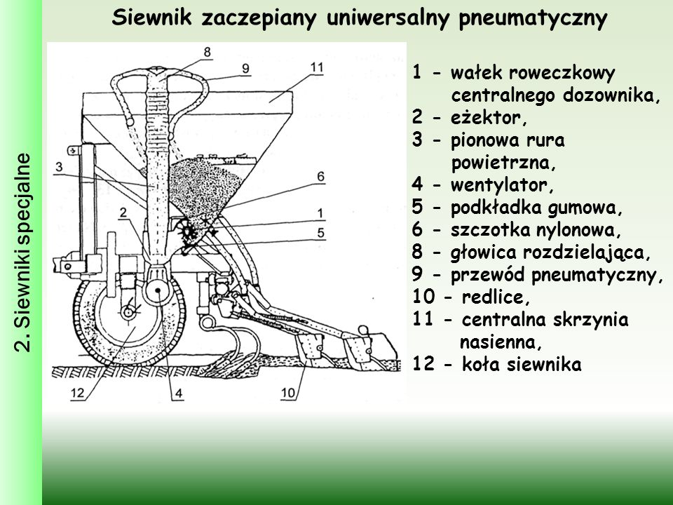 Siewnik zaczepiany uniwersalny pneumatyczny
