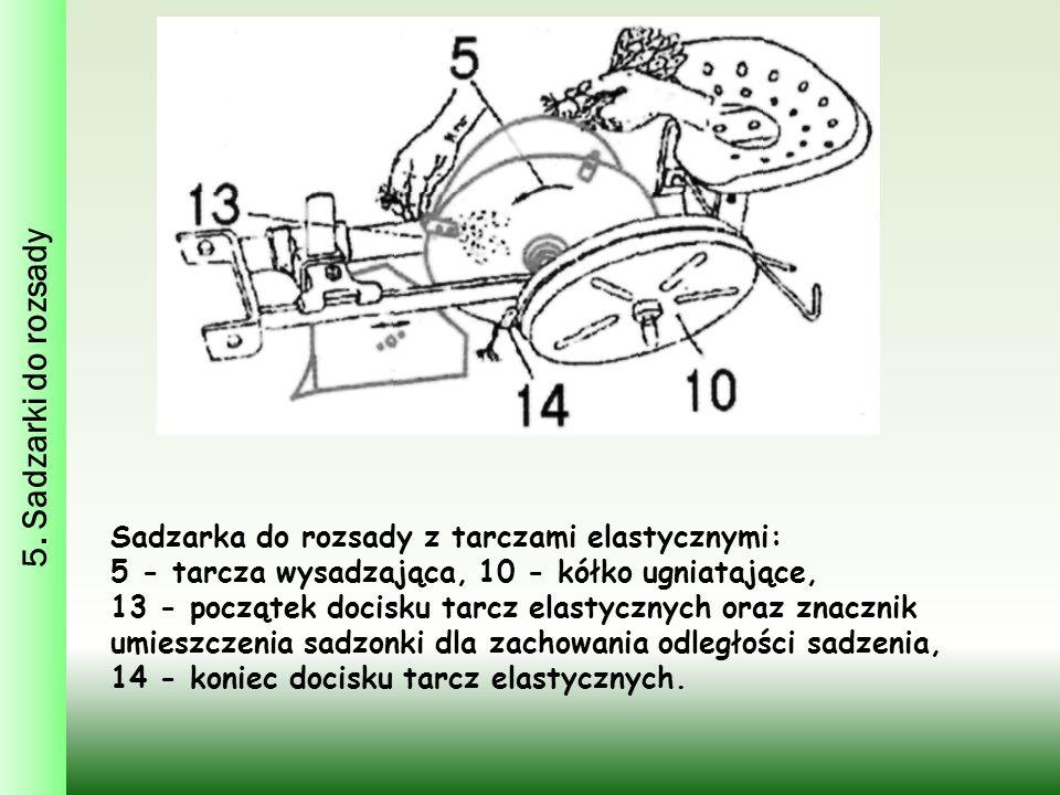 5. Sadzarki do rozsady Sadzarka do rozsady z tarczami elastycznymi: