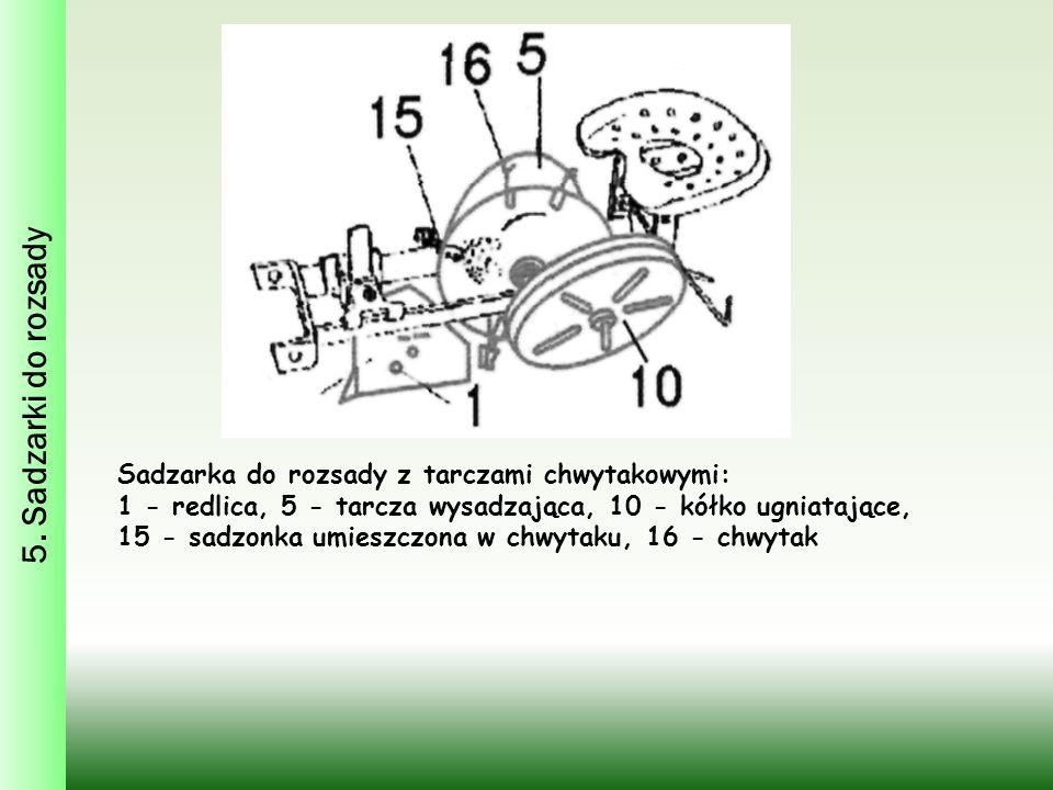 5. Sadzarki do rozsady Sadzarka do rozsady z tarczami chwytakowymi: