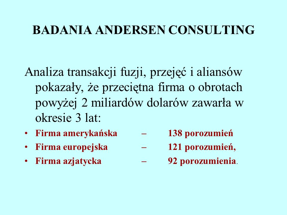 BADANIA ANDERSEN CONSULTING