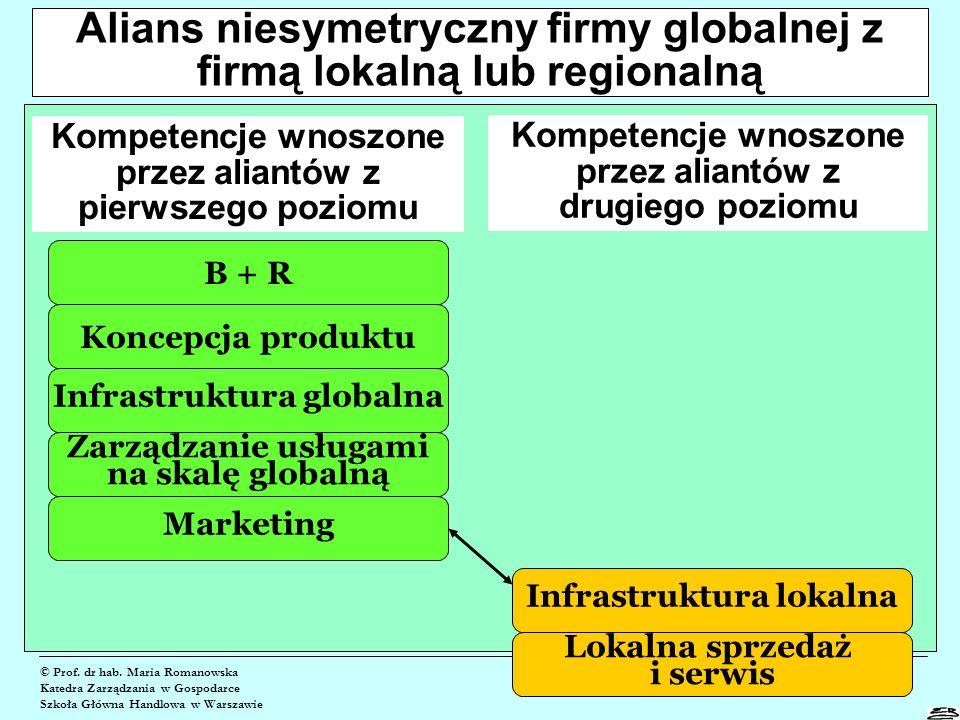 Alians niesymetryczny firmy globalnej z firmą lokalną lub regionalną