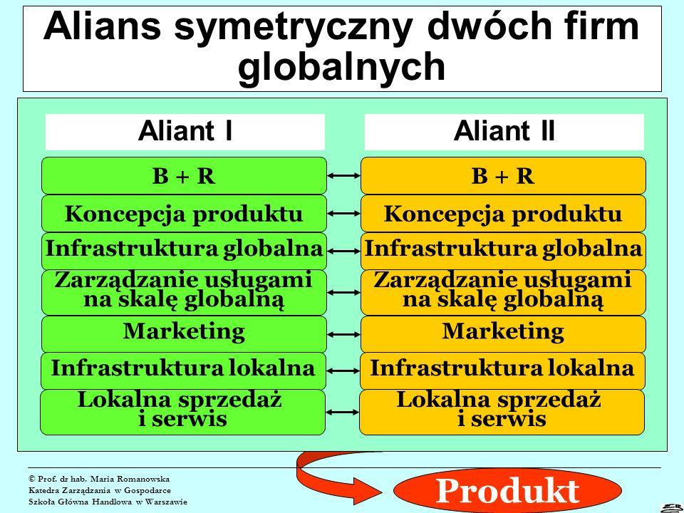 Alians symetryczny dwóch firm globalnych