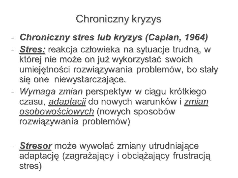 Chroniczny kryzys Chroniczny stres lub kryzys (Caplan, 1964)