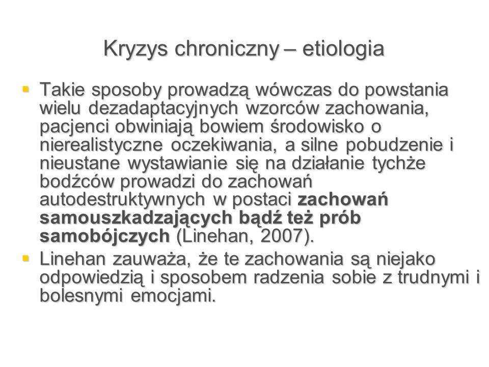 Kryzys chroniczny – etiologia