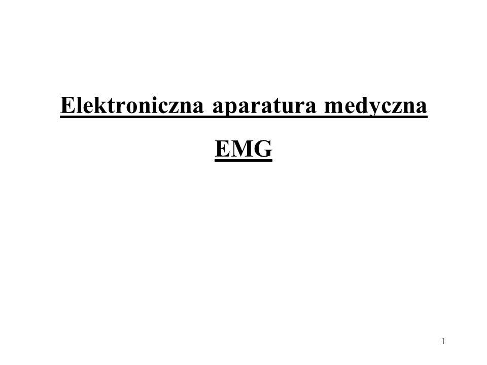 Elektroniczna aparatura medyczna EMG