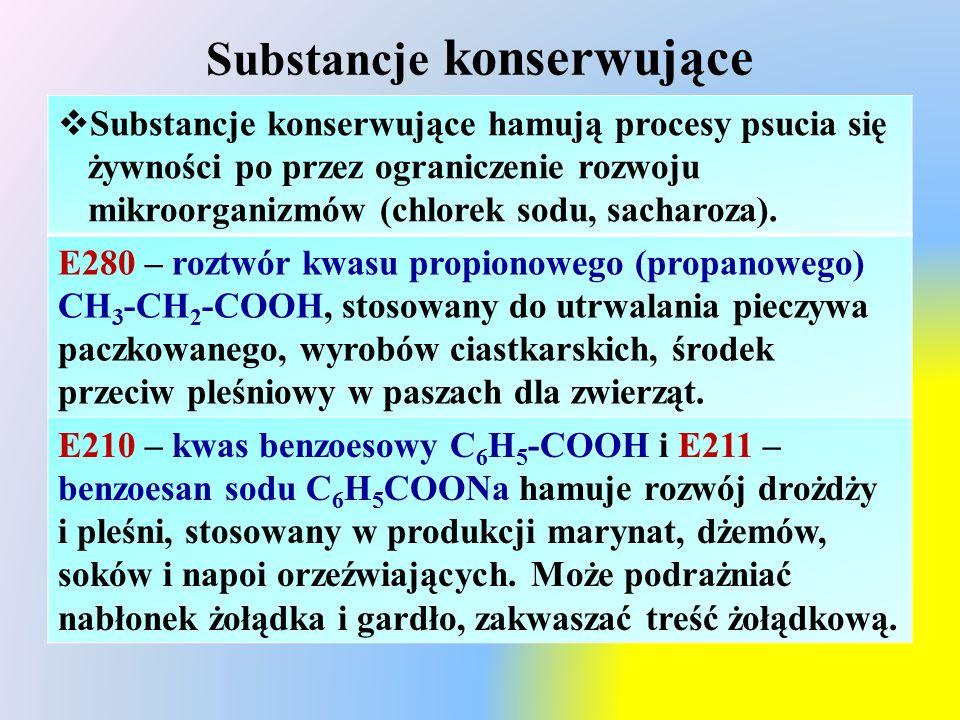 Substancje konserwujące